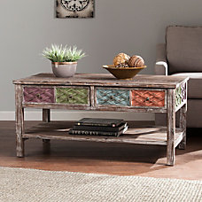Southern Enterprises Dharma Cocktail Table Rectangular