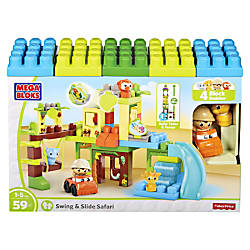 Mega Bloks SwingSlide Safari Building Blocks