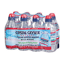 Crystal Geyser Spring Water With Sport
