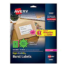 Avery Permanent Starburst Labels 2 14