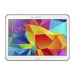 "Samsung Galaxy Tab® 4 Tablet With 10.1"" Screen, 16GB Storage, White"