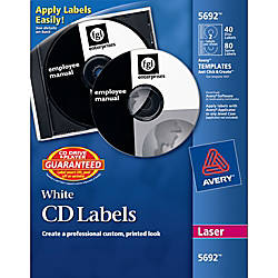 Avery Laser CDDVD Labels Pack Of