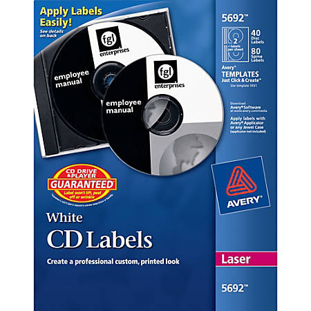 CD Labels At Office Depot OfficeMax - Office depot window decals template