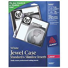 Avery Laser CDDVD Jewel Case Inserts