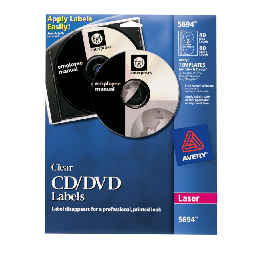 Car sticker maker in penang - Avery Clear Glossy Laser Cddvd Labels