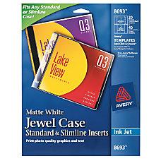 Avery Inkjet CDDVD Jewel Case Inserts
