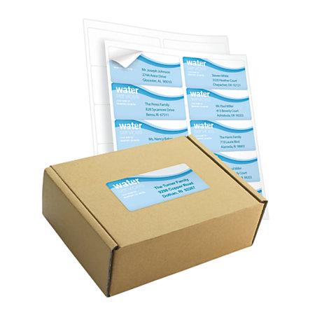 office depot brand white inkjetlaser shipping labels 2 x 4 box of