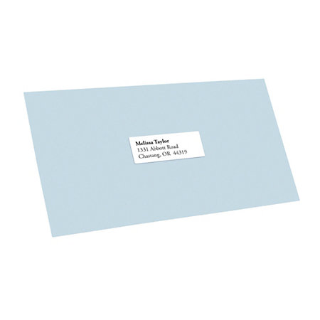 office depot address label template - office depot brand white inkjetlaser address labels 1 x 2