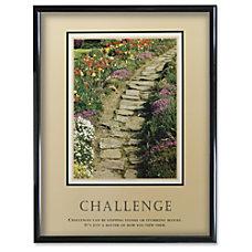 Advantus Challenge Framed Motivational Print Challenge