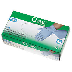 CURAD Powder Free Nitrile Exam Gloves