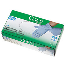CURAD Powder Free Nitrile Exam Gloves
