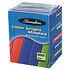 Swingline Color Bright Staples 14 Assorted