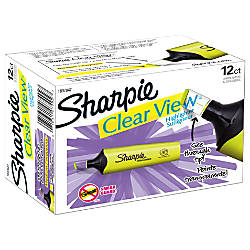 Sharpie Clear View Tank Highlighters Chisel