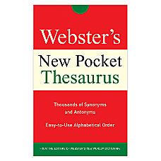 Websters New Pocket Thesaurus