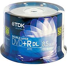 TDK DVDR DL 85GB SPINDLE 50