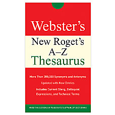 Websters New Rogets A Z Thesaurus