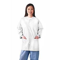 Medline Multilayer Lab Jackets Small White