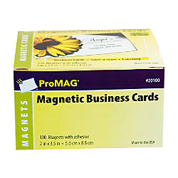 ProMAG Magnetic Business Cards 2 x 3 12 Pack 100 by