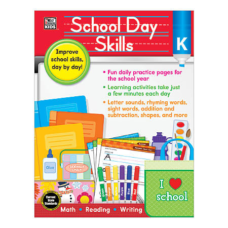 Thinking Kids School Day Skills Grade K By Office Depot