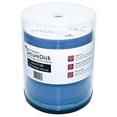 DataLocker SecureDisk Recordable DVD R Spindle