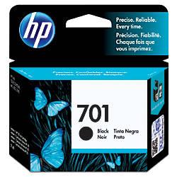 HP 701, Black Original Ink Cartridge (CC635A)