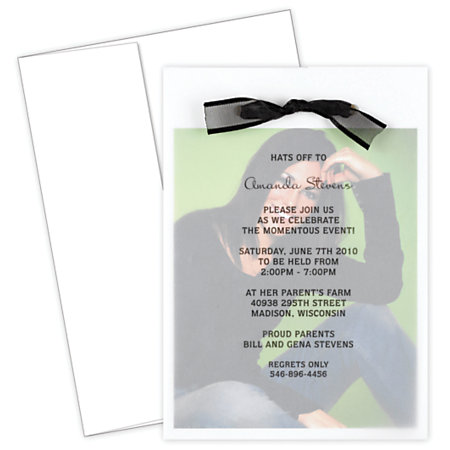 Great papers graduation photo invitation kit 5 12 x 7 34 for Wedding invitations kits office depot