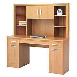 office depot brand state street corner desk with hutch 62 38 h x 59 12