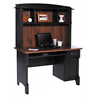 Realspace Shore Mini Solutions Computer Desk With Hutch (Antique Black)