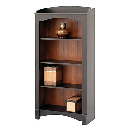 Realspace Shore Mini Solutions 4 Shelf - Realspace Shore Mini Solutions 4 Shelf Bookcase Antique Black By
