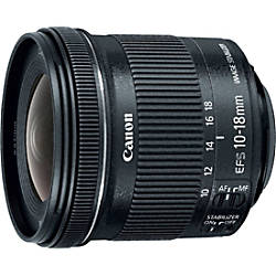 Canon 10 mm to 18 mm