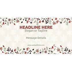 Custom Horizontal Banner Christmas Elements