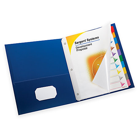 Oxford Extra Wide Twin Pocket Folder With 3 Prong ...