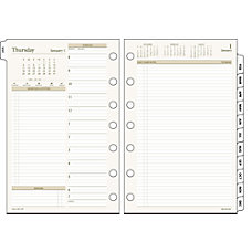 Day Runner PRO Planning Refill Pages