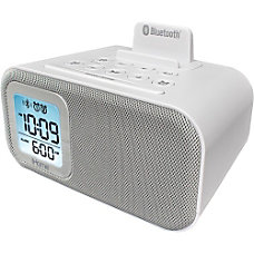 iHome iBT22 Table Clock White