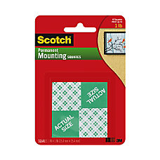 Scotch Permanent Foam Mounting Squares 1