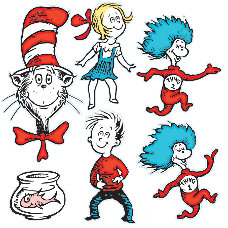 Eureka 2 Sided Decorations Dr Seuss