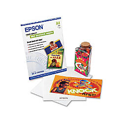 Epson A4 Self Adhesive Photo Paper