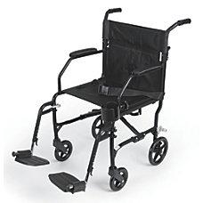 Medline Ultralight Transport Chair Black