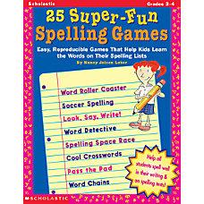 Scholastic 25 Spelling Games