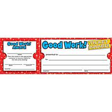 Scholastic Ticket Awards Good Work 8