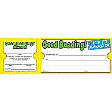 Scholastic Ticket Awards Good Reading 8