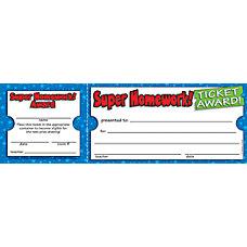 Scholastic Ticket Awards Super Homework 8