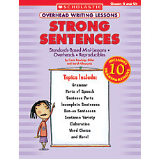 Scholastic Overhead Writing Lesson Sentences