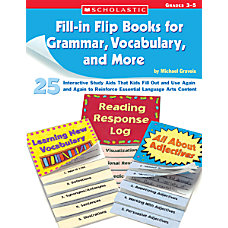 Scholastic Flip Books GrammarVocabulary