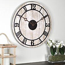 FirsTime Reclaimed Whitewash Wall Clock 18