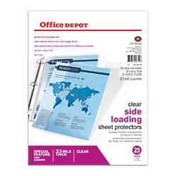 Office Depot Brand Side Loading Sheet