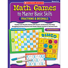 Scholastic Math Games FractionsDecimals