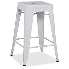 Lorell Metal Stool Powder Coated Frame