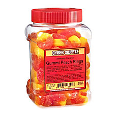 Cyber Sweetz Peach Rings 29 Oz