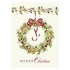Sample Holiday Card Christmas Bow